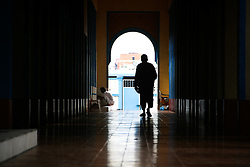 September 12, 2016 - Philippines - A man walks along the hallway of the Blue Mosque in Taguig, Metro Manila. Filipino-Muslims celebrated Eid Al-Adha early Monday morning with prayers and games at the Blue Mosque in Taguig, Metro Manila. (Credit Image: © J Gerard Seguia via ZUMA Wire)