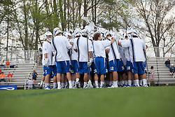 11 April 2009: Duke Blue Devils men's lacrosse before a 15-10 win over the Virginia Cavaliers at Koskinen Stadium in Durham, NC