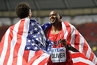 Athletics - IAAF World Championships 2013 - Stadium Loujniki , Moscow , RUSSIA - 10 to 18/08/2013 - Photo JULIEN CROSNIER / KMSP / DPPI - Day 3 - 12/08/13 - 110M Men - David Oliver (USA) / Gold Medal