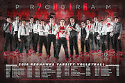 Marist High School Redhawks Boys Volleyball Team Schedule Poster Photography by Chicago Sports Photographer Chris W. Pestel