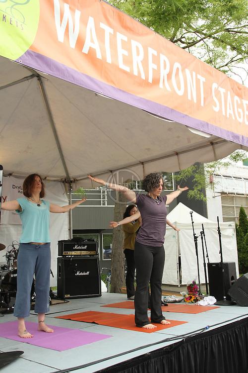 Yoga at the 40th Annual Fremont Fair 2011.