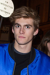 Cindy Crawford's son Presley Gerber arriving at YSL BEAUTY HOTEL event against Paris Fashion Week Men's on January 17, 2018 in Paris, France. Photo by Nasser Berzane/ABACAPRESS.COM
