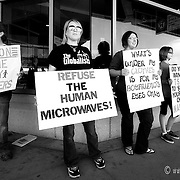 The Liberty Restoration Project protesting the full body scanners at KCI Airport (MCI)