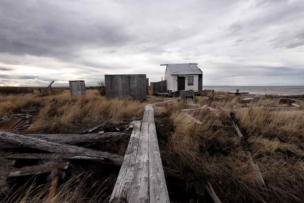 Abandoned Cannery Outbuildings, Naknek, Alaska.
