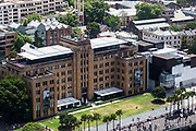 Open Sydney presented by Sydney Living Museuems. This event every year allows Sydneysiders to visit 40 of the city's most significant buildings and spaces across the CBD. The Museum of Contemporary Art viewed from the rooftop of the AMP Building, Sydney.