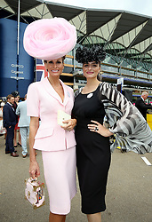 Isabell Kristensen (left) and Nicola Kristensen arriving during day one of Royal Ascot at Ascot Racecourse.