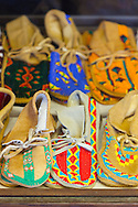Yakama National Cultural Center Gift Shop features hand made Yakama handwork.  Hand-beaded moccosins.