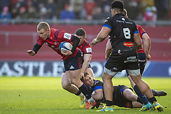 December 9, 2018 - Limerick, Ireland - Keith Earls of Munster pictured with the ball during the Heineken Champions Cup Round 3 match between Munster Rugby and Castres Qlympique at Thomond Park Stadium in Limerick, Ireland on December 9, 2018  (Credit Image: © Andrew Surma/NurPhoto via ZUMA Press)