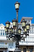Traditional street lamp in Corro de San Pedro at Comillas in Cantabria, Northern Spain