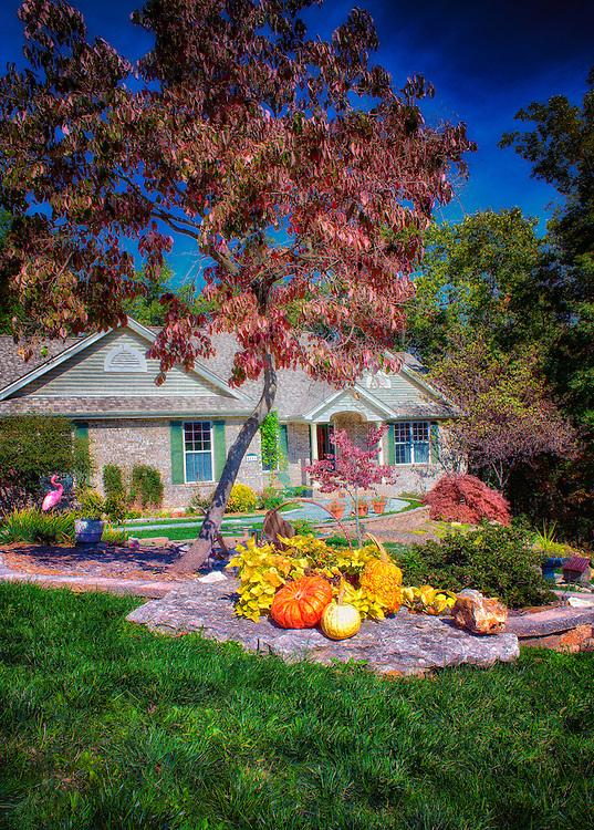 A festive Autumn Scene at 4811 Brooke St. in New Melle, Missouri