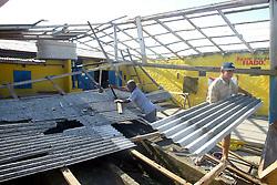 Vista aérea dos estragos causados pelo vento de até 150 Km/h do ciclone Catarina que atingiu a cidade de Torres no litoral norte do RS, Brasil.FOTO: Jefferson Bernardes/Preview.com