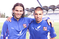 Fotball, Liverpool's Patrik Berger with new signing Milan Baros of the Czech Republic training at the Drnovice Stadium ahead of his country's friendly against South Korea on Wednesday.  (Foto: Digitalsport).