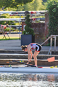 Henley-On-Thames, Berkshire, UK.,  3rd August 2020 Athletes, Crews boating from Leander Club for training,  [ Mandatory Credit © Peter Spurrier/Intersport Images],  Single Scull, , Training during, the  coronavirus (COVID-19), pandemic,