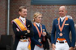 Team Netherlands, Gal Edward, Witte-Vrees Madeline, Minderhoud Hans Peter<br /> Nederlands Kampioenschap Dressuur <br /> Ermelo 2017<br /> © Hippo Foto - Dirk Caremans<br /> 16/07/2017