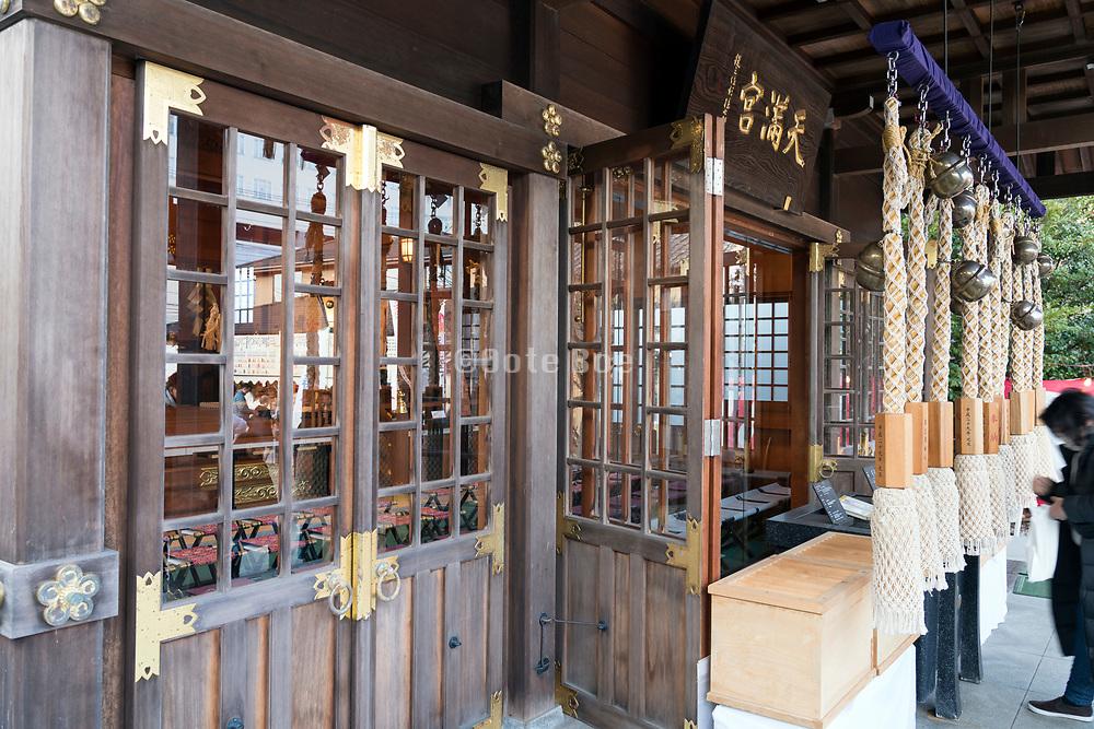 New Years day people praying at the Tenjinsha Shrine in Kurihama, Yokosuka, Kanagawa prefecture Japan