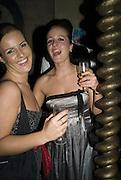 SOPHIE DIBUZ AND AGNES SARKADI, Discover Wilton's Music Hall, Fundraising event. Graces alley, Ensign St. London. 5 December 2007. -DO NOT ARCHIVE-© Copyright Photograph by Dafydd Jones. 248 Clapham Rd. London SW9 0PZ. Tel 0207 820 0771. www.dafjones.com.