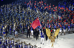 JAKARTA, Aug. 18, 2018  Delegation of China enters the Gelora Bung Karno (GBK) Main Stadium at the opening ceremony of the 18th Asian Games in Jakarta, Indonesia, Aug. 18, 2018. (Credit Image: © Pan Yulong/Xinhua via ZUMA Wire)