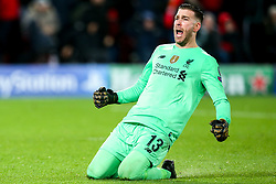 Adrian of Liverpool celebrates - Mandatory by-line: Robbie Stephenson/JMP - 11/03/2020 - FOOTBALL - Anfield - Liverpool, England - Liverpool v Atletico Madrid - UEFA Champions League Round of 16, 2nd Leg