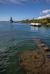 USS Arizona With The USS Missouri In The Background, Pearl Harbor, Pearl Harbor