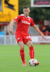 Crawley's Matt Sadler - photo mandatory by-line David Purday JMP- Tel: Mobile 07966 386802 - 11/10/14 - Crawley Town v Peterbourgh United - SPORT - FOOTBALL - Sky Bet Leauge 1  - London - Checkatrade.com Stadium