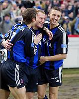 Fotball, 7. mars 2004, Brugge - Anderlecht, Rune Lange, Bugge JOIE - VREUGDE / RUNE LANGE - TIMMY SIMONS