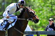 April 7, 2012 - Jacob Roberts wins aboard Old Timer in the Stoneybrook Cup hurdle at Stoneybrook Steeplechase, Raeford NC