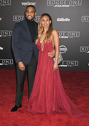 December 10, 2016 - Los Angeles, California, United States - December 10th 2016 - Los Angeles California USA - Actor JEFF PIERRE, CHANTEL MCKENZIE    at the World Premiere for ''Rogue One Star Wars'' held at the Pantages Theater, Hollywood, Los Angeles  CA (Credit Image: © Paul Fenton via ZUMA Wire)