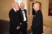 JOE TILSON; ALLEN JONES; DAVID REMFREY, Royal Academy of Arts Annual dinner. Royal Academy. Piccadilly. London. 1 June <br /> <br />  , -DO NOT ARCHIVE-© Copyright Photograph by Dafydd Jones. 248 Clapham Rd. London SW9 0PZ. Tel 0207 820 0771. www.dafjones.com.