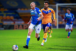 Jason Taylor of Barrow runs on the ball - Mandatory by-line: Ryan Crockett/JMP - 27/10/2020 - FOOTBALL - One Call Stadium - Mansfield, England - Mansfield Town v Barrow - Sky Bet League Two