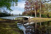 APELDOORN, 09-06-2021 , Kroondomein Het Loo<br /> <br /> Kroondomein Het Loo is een landgoed op de Veluwe, in de Nederlandse provincie Gelderland. Het is het grootste landgoed van Nederland en omvat ongeveer 10.400 hectare.<br /> <br /> Op de foto:   Leeuwenbrug