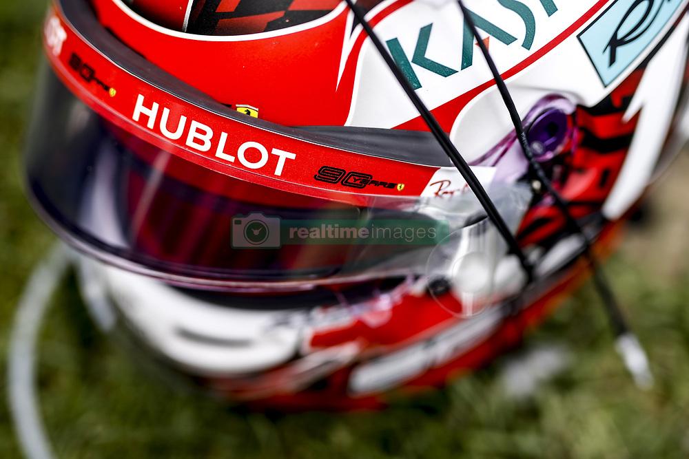 September 1, 2019, Spa-Francorchamps, Belgium: Motorsports: FIA Formula One World Championship 2019, Grand Prix of Belgium, ..Helmet of #16 Charles Leclerc (MCO, Scuderia Ferrari Mission Winnow) (Credit Image: © Hoch Zwei via ZUMA Wire)