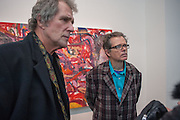 MIKE GODDARD; JIM SHAW;   JIM SHAW AT SIMON LEE GALLERY.- 12 BERKELEY ST. London. 11 February 2013.