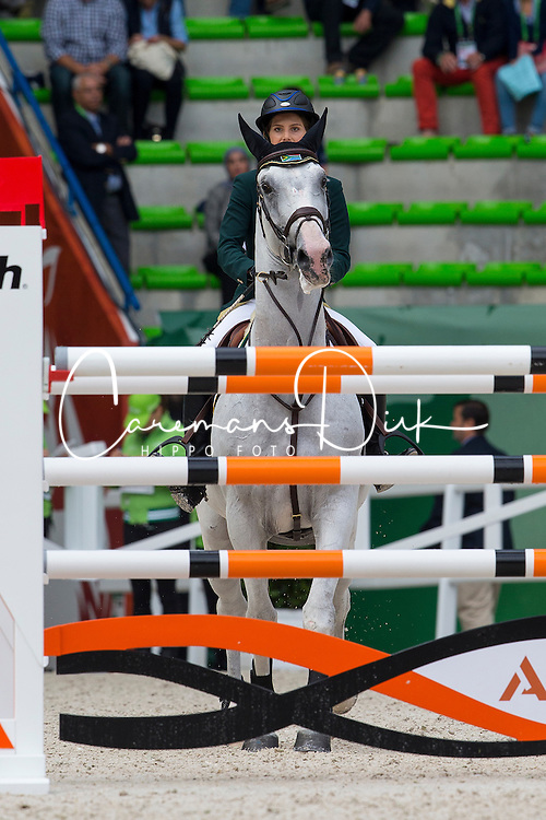 Cara Bianca Frew, (RSA), Leopold Pierreville - Team & Individual Competition Jumping Speed - Alltech FEI World Equestrian Games™ 2014 - Normandy, France.<br /> © Hippo Foto Team - Leanjo De Koster<br /> 02-09-14