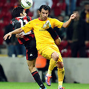 Galatasaray's Engin BAYTAR (R) during their Turkish Superleague Galatasaray between Gaziantepspor at the TT arena in Istanbul Turkey on Wednesday 26 October 2011. Photo by TURKPIX