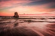 Davenport Beach at Sunset