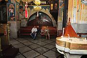 The interior of the Greek Orthodox Church of the Annunciation, the Church of St. Gabriel, Nazareth, Israel