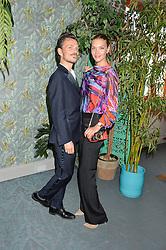 MATTHEW WILLIAMSON and ARIZONA MUSE at the launch of Matthew Williamson's 'Sea to Shore' range for The Outnet.com held at the Matthew Williamson's showroom, Studio 10-11, 135 Salusbury Road, London NW6 on 5th May 2016