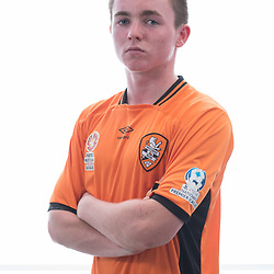 BRISBANE, AUSTRALIA - MARCH 17: Lewis Gibson poses for a photo during the Brisbane Roar Youth headshot session at QUT Kelvin Grove on March 17, 2017 in Brisbane, Australia. (Photo by Patrick Kearney/Brisbane Roar)
