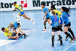 during handball match between RK Krim Mercator (SLO) vs Metz Handball  (FRA) in DELO EHF Women's Champions League 2020/21, on January 16, 2021 in SRC Stozice, Ljubljana, Slovenia. Photo by Grega Valancic / Sportida