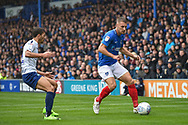 Portsmouth Defender, Lee Brown (3) passes the ball during the EFL Sky Bet League 1 match between Portsmouth and Wycombe Wanderers at Fratton Park, Portsmouth, England on 22 September 2018.