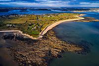 France, Morbihan (56), Golfe du Morbihan, Locmariaquer, plage de Locmariaquer // France, Morbihan (56), Gulf of Morbihan, Locmariacier, beach of Locmariaquer