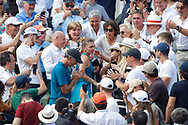 Simona HALEP (ROU) won the women tournament, celebration with mothe, father, family, team, friends, in stands during the Roland Garros French Tennis Open 2018, Final Women, on June 9, 2018, at the Roland Garros Stadium in Paris, France - Photo Stephane Allaman / ProSportsImages / DPPI