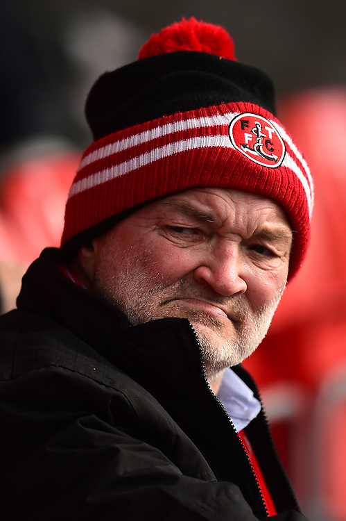 A Fleetwood Town fan looks on<br /> <br /> Photographer Richard Martin-Roberts/CameraSport<br /> <br /> The EFL Sky Bet League One - Fleetwood Town v Rochdale - Saturday 14th October 2017 - Highbury Stadium - Fleetwood<br /> <br /> World Copyright © 2017 CameraSport. All rights reserved. 43 Linden Ave. Countesthorpe. Leicester. England. LE8 5PG - Tel: +44 (0) 116 277 4147 - admin@camerasport.com - www.camerasport.com