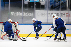 "Zan Us and Ken Ograjensek during practice session of Slovenian Ice Hockey National team before ""Beat Covid-19 Ice Hockey Tournament"", on May 12, 2021 in Hala Tivoli, Ljubljana, Slovenia. Photo by Vid Ponikvar / Sportida"