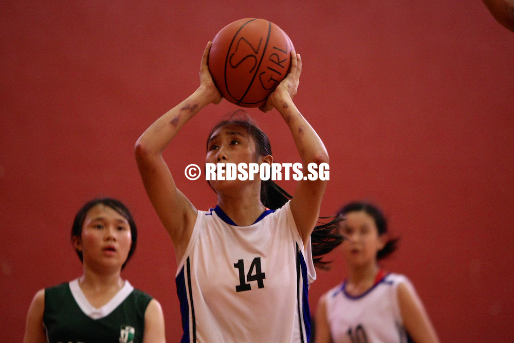 PESEB, Evans Road, Friday, August 2, 2013 — Singapore Chinese Girls' School (SCGS) survived an early scare from Raffles Girls' School (RGS) to win 55–35 in the semi-final of the South Zone C Division Girls' Championship.<br /> <br /> Story: http://www.redsports.sg/2013/08/05/south-zone-c-division-bball-scgs-rgs/