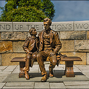 This monument is at the Tredegar Iron Works in Richmond.  I love that there is a monument that includes Abraham Lincoln in the capital of the confederacy as well as the setting and message