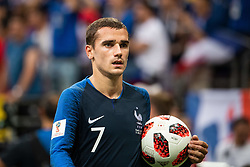 July 15, 2018 - Moscow, Russia - 180715 Antoine Griezmann of France during the FIFA World Cup final match between France and Croatia on July 15, 2018 in Moscow..Photo: Petter Arvidson / BILDBYRÃ…N / kod PA / 92087 (Credit Image: © Petter Arvidson/Bildbyran via ZUMA Press)