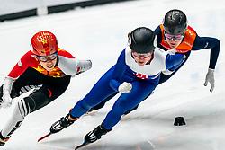 Xandra Velzeboer in action on the 500 meter during ISU World Cup Finals Shorttrack 2020 on February 14, 2020 in Optisport Sportboulevard Dordrecht.