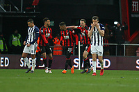 Football - 2017 / 2018 Premier League - AFC Bournemouth vs. West Bromwich Albion<br /> <br /> Jay Rodriguez of West Bromwich Albion can't look as Bournemouth's Jordon Ibe celebrates with team mates at Dean Court (Vitality Stadium) Bournemouth <br /> <br /> COLORSPORT/SHAUN BOGGUST
