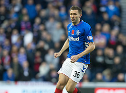 Rangers' Gareth McAuley during the Ladbrokes Scottish Premiership match at Ibrox Stadium, Glasgow. PRESS ASSOCIATION Photo. Picture date: Sunday November 11, 2018. See PA story SOCCER Rangers'. Photo credit should read: Jeff Holmes/PA Wire. EDITORIAL USE ONLY